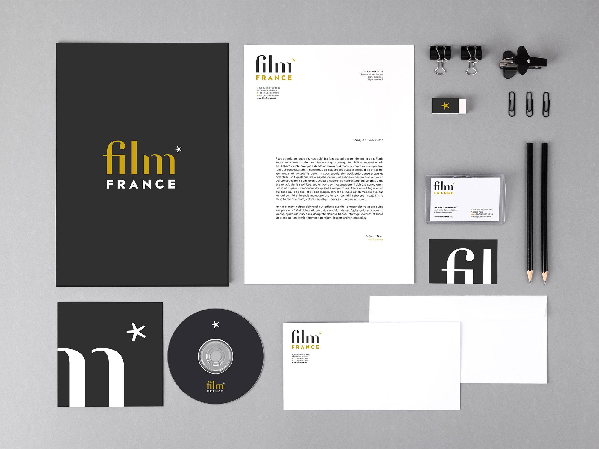 refonte supports et identité film france
