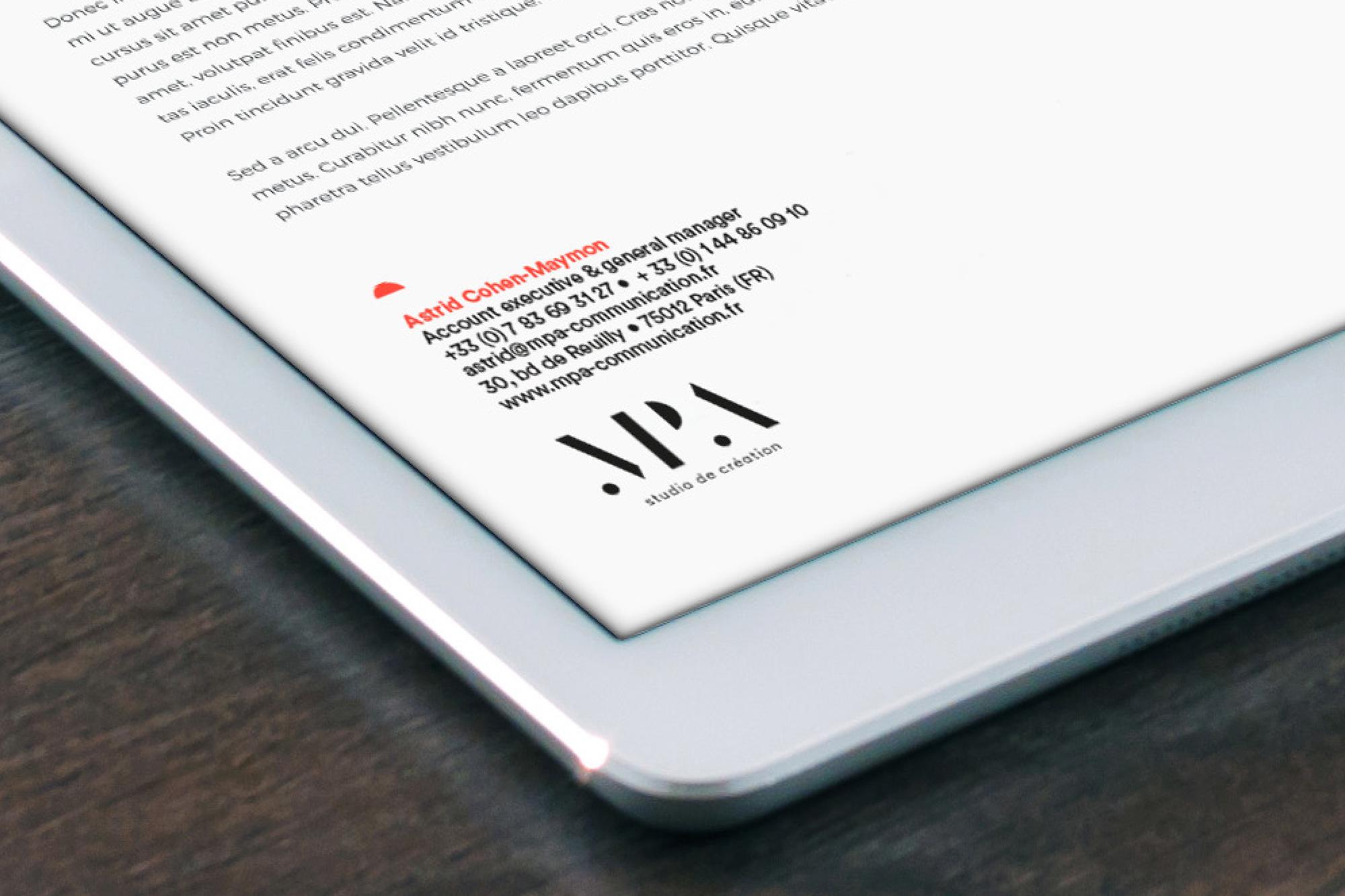 identité visuelle MPA - Narrative
