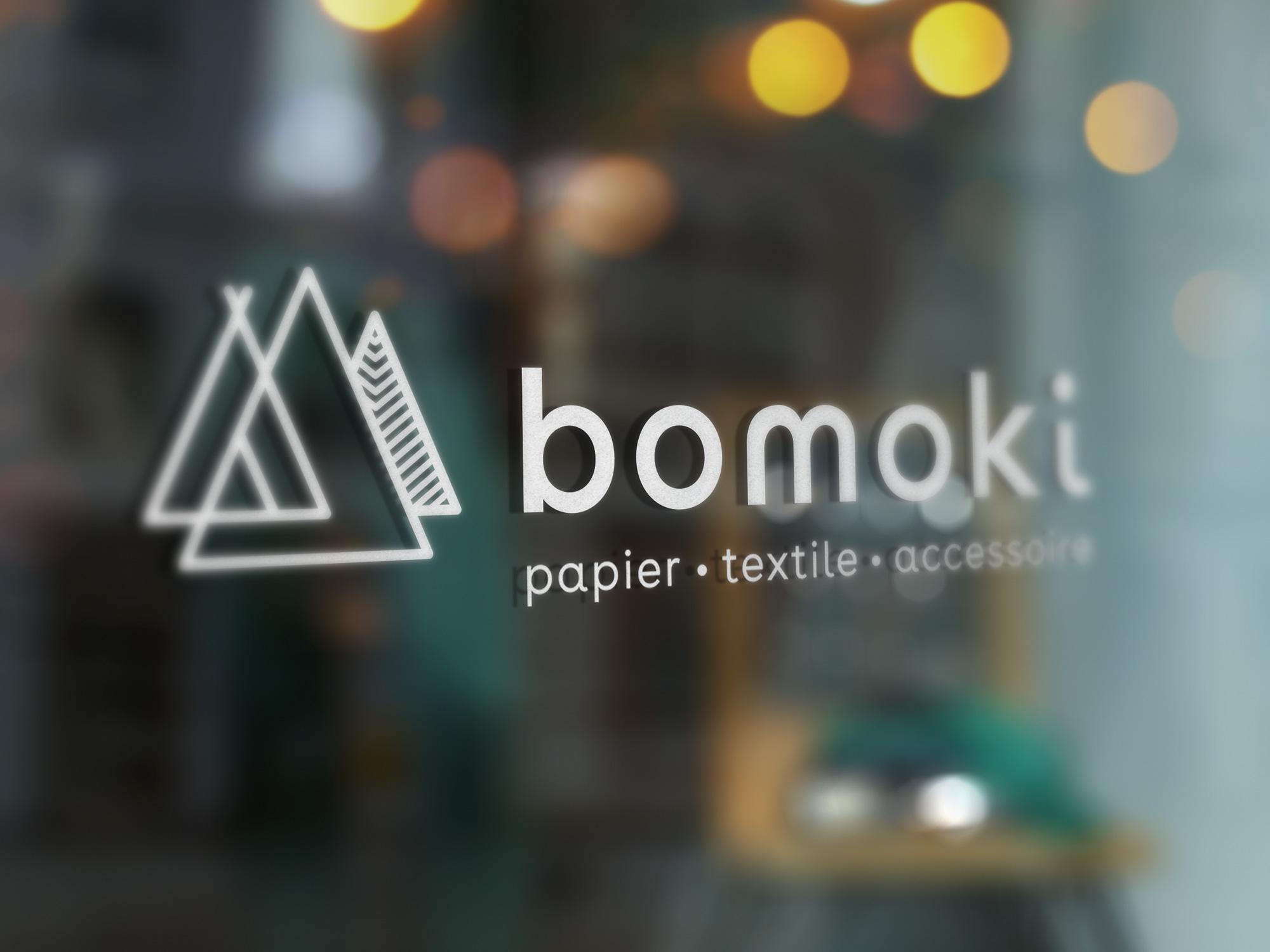Identité graphique et site internet bomoki