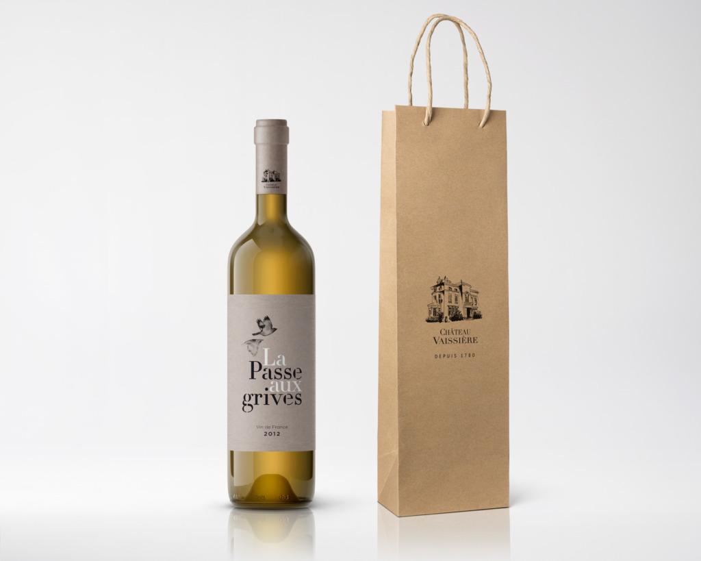 Étiquettes vins château Vaissiere