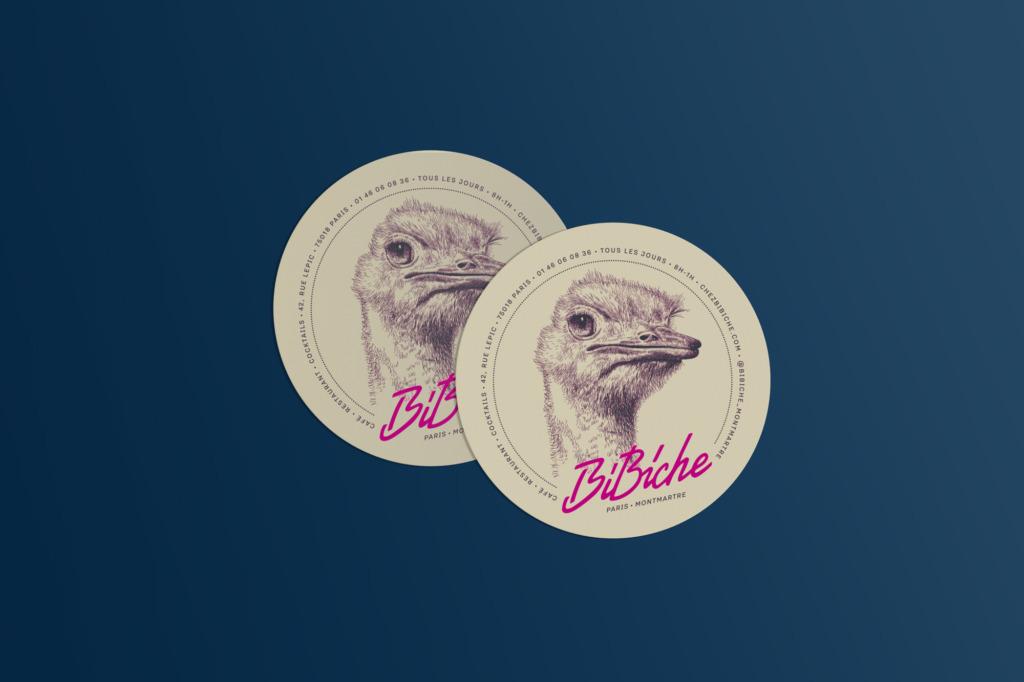 identite graphique bibiche sous bocks restaurant
